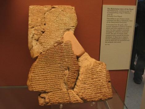 Stone Tablet - Babylonian Flood Story - Epic of Atrahasis