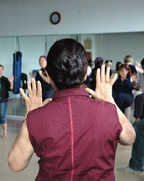 El Halev teaches Martial Arts and Self Defense classes for women in Jerusalem (courtesy)