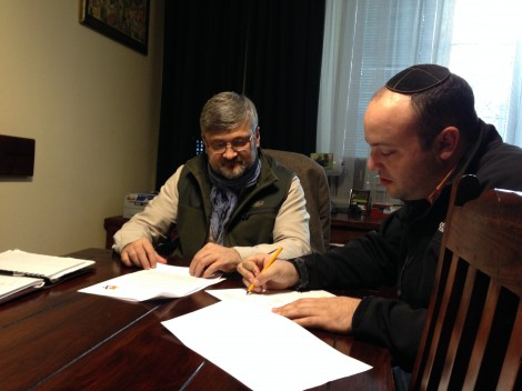 Agreement being signed (Taken by author)