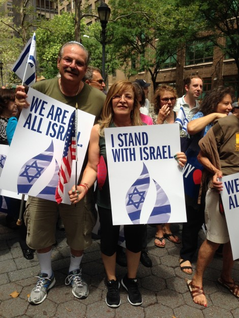 My wife and I at Rally For Israel in NY