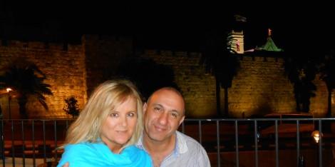 Leslie & Isik My Birthday May 9 Jerusalem Overlooking Old City Walls Jaffa Gate