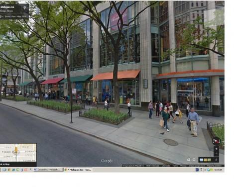 N. Michigan Ave. sidewalk