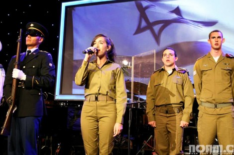 Hatikvah by guest soldier Meshi-Photo Noam Chen