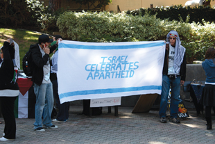 Protesters at UCLA in 2010