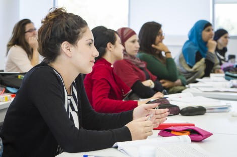 One of the first classes to take place at the New School of Management at Western Galilee College. 2014.
