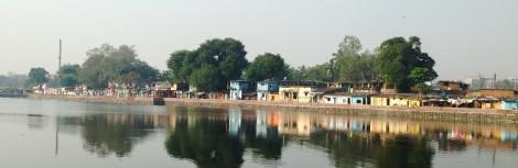 View of the Kalwa slum