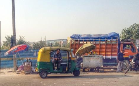 Welcome to New Delhi! The ubiquitous auto rickshaw. Photo: Laura Ben-David