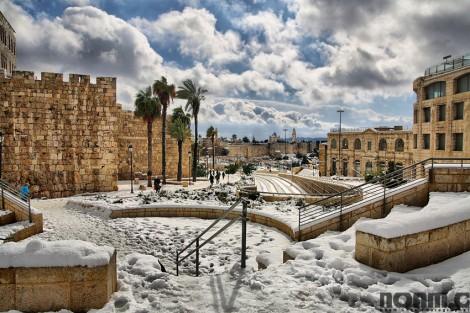snowfall in israel