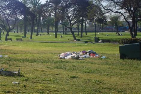 Trash at Begin Park