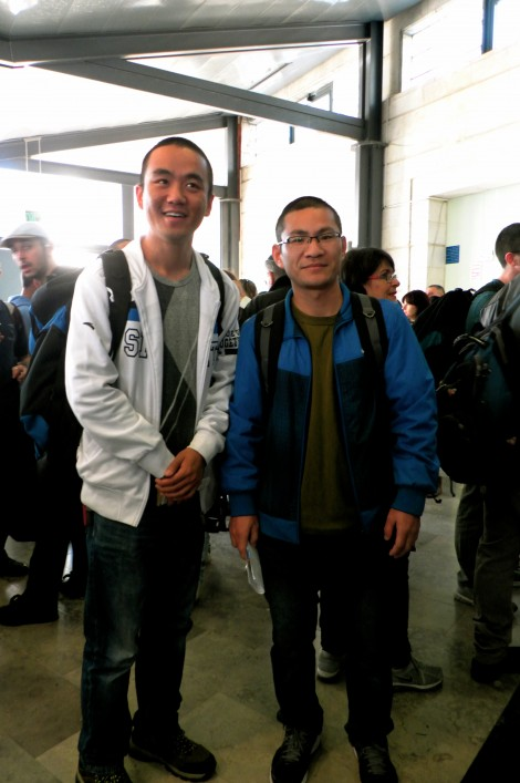 1 (from left to right) Yonatan Xue and Gideon Fan, Chinese immigrants and newly drafted IDF soldiers, at Ammunition Hill (courtesy)