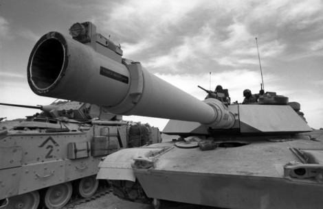 American tanks in Kuwait