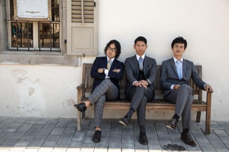 Aniwo co-founders Takuya (L), Ani (C) and Chikara (R)