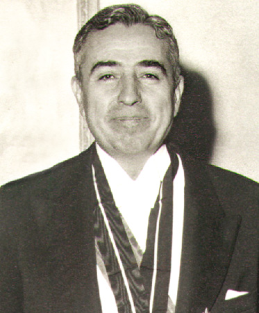 Anwar Nusseibeh, father of prominent PLO leader Sari Nusseibeh, served as Minister of Defense in the Government of Jordan {By Rajai [Public domain], via Wikimedia Commons}