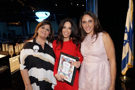 Hadassah 2014-From L-Ima Mashian co-president Malka Group, Keynote speaker Lisa Daftari and Shirin Gabay, co president Malka Group-Photo by Orly Halevy
