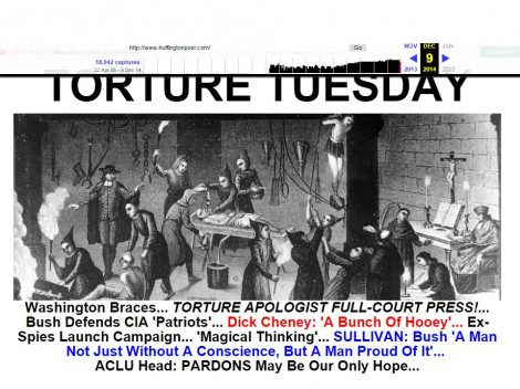 "Here, ""The Huffington Post"" compared the interrogation of Anti-Semitic terrorists to Anti-Semitic torture."