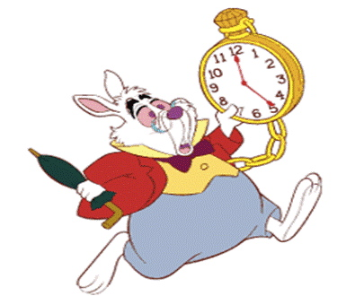 "The White Rabbit: ""I'm late, I'm late!"""