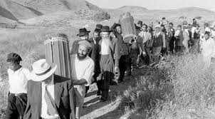 The long walk for refugees through the deserts to the Promised Land