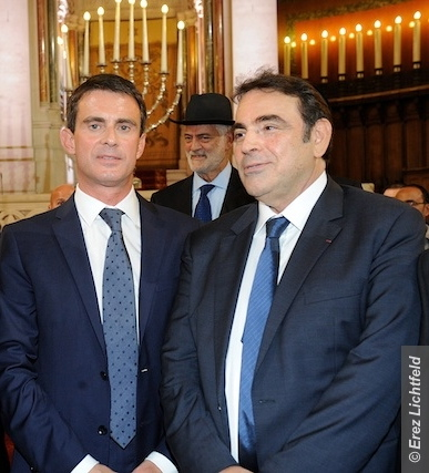 Manuel Valls  Consistoire's  Joel Mergui