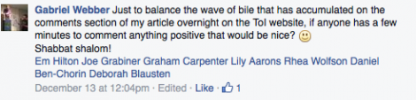 """Respect your readers by referring to their comments to your article as a """"wave of bile"""""""