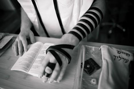 """""""T'filin of the Hand"""" Photo by Annemari Ruthven (http://www.annemariruthven.com/)  Copyright © 2011, Chaim Ehrlich."""