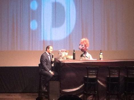 Jerusalem Mayor Nir Barkat and Puppet Red Orbach