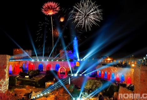 fireworks in jerusalem during Israel's Independance Day