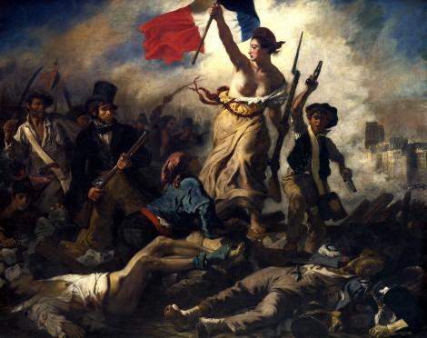 """Eugène Delacroix, """"La liberté guidant le peuple"""""""