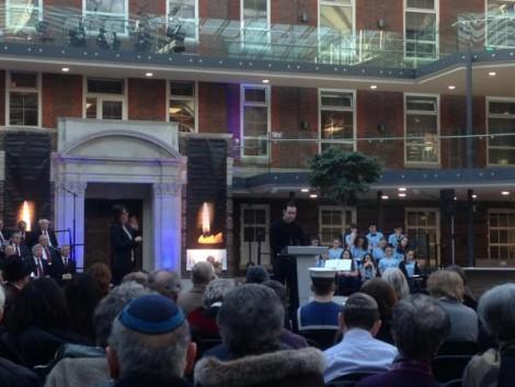 Joseph Stoll speaking at the London Borough of Barnet Holocaust Memorial Day Service