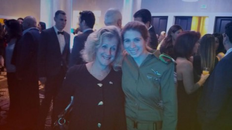 Yonit Daskal and the writer in November 2014 FIDF Gala