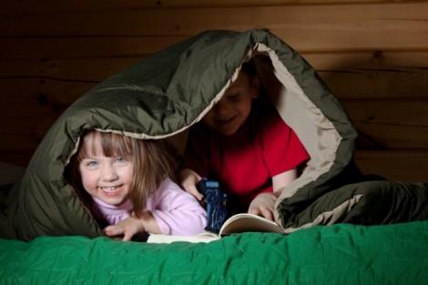 two kids one sleeping bag