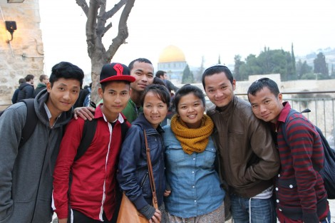 Twenty-somethings gather with excitement on their first trip to Jerusalem - Photo credit: Laura Ben-David