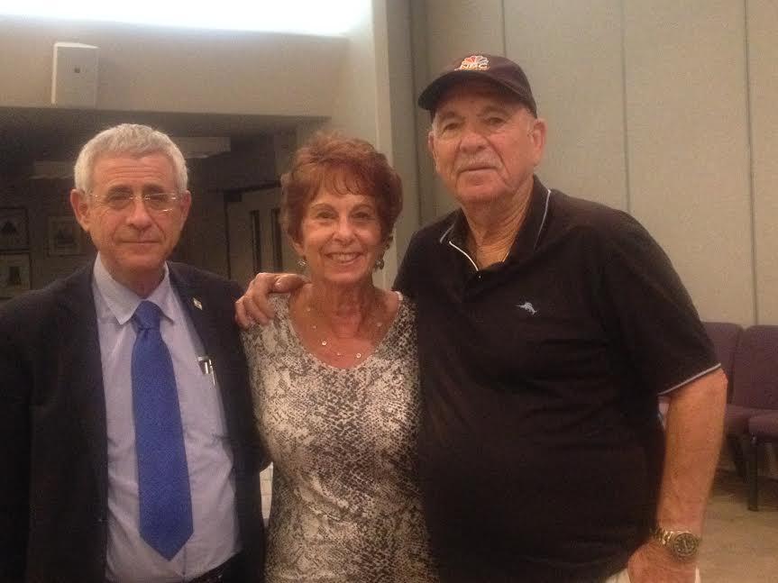 From L-Dr. Kedar, Shirley and Hal Gutterman Palm Desert-Photo Nurit Greenger