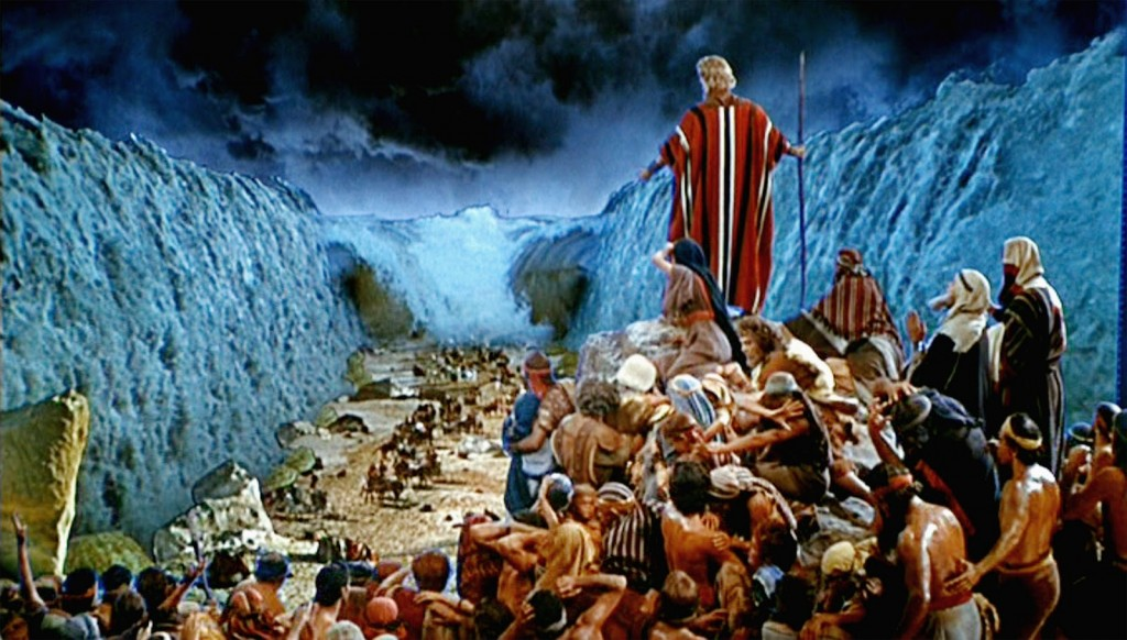 Parting of the Red Sea Scene from The TenCommandments movie directed by CecilBDeMille (1956)