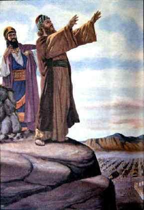 Painting Balaam Blesses Israel