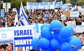 German Jews rally for Israel against anti Semitism in Berlin