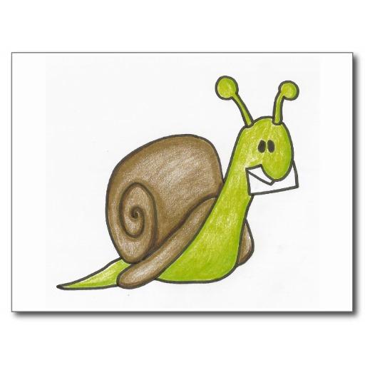 Cartoon Snail Mail