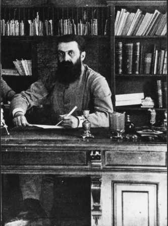 Theodore Herzl, the Father of Zioinism (Photo credit: Public domain via Wikimedia Commons)