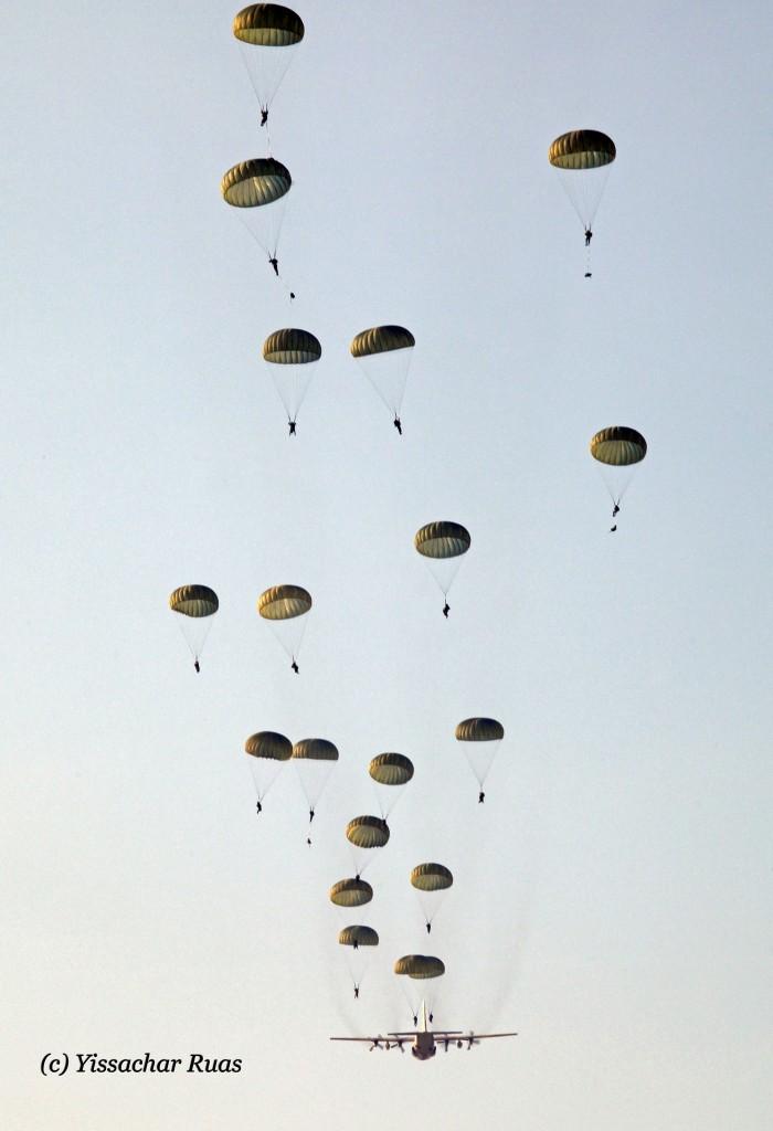 IAF C-130H making a drop