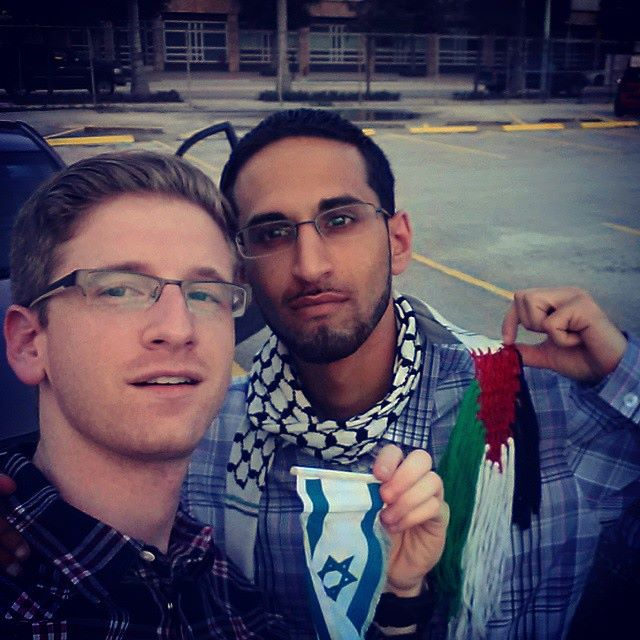 Left to right: Sholom Neistein and Mohamed Ghumrawi