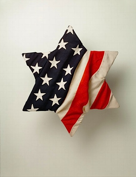 Jewish Star of David wrapped in American Flag