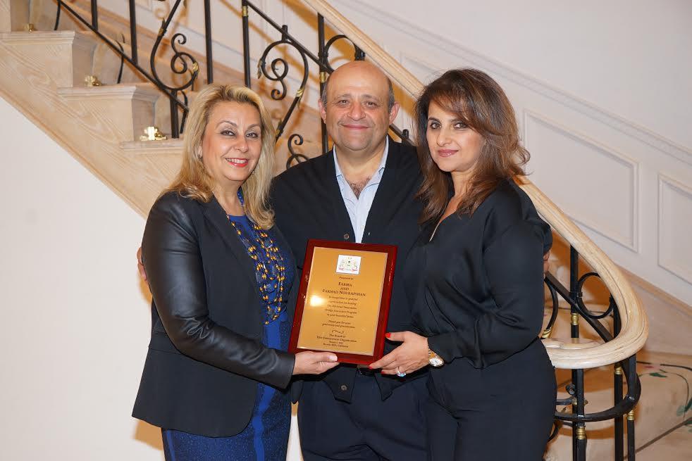 L-Katherine Kahen, Hosts Farhad and Fariba Nourafshan-Photo Orly Halevy