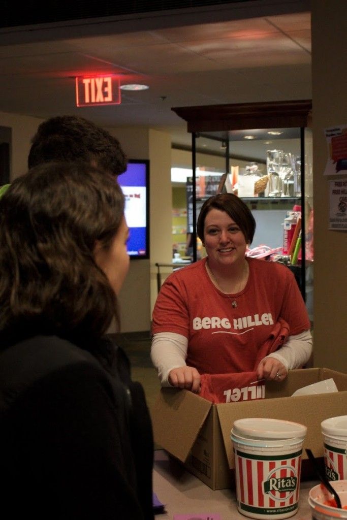 Muhlenberg Hillel's Free Rita's and T-shirt Giveaway.