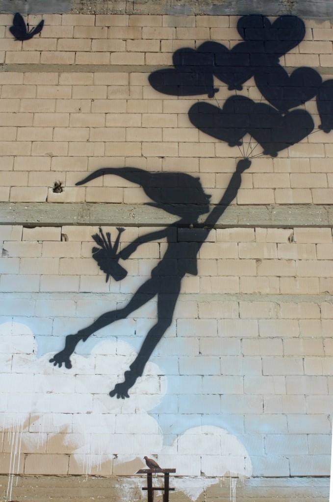 Legalization - chasing the dream Street Art in Tel Aviv. Artist Unkown