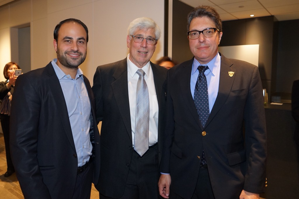 -L Dr Ben Talei, Beverly Hills Mayor Julian A. Gold, M.D and Beverly Hills Vice Mayor John A. Mirisch at Dr. Gold Installation as 2015 Beverly Hills Mayor-Photo Orly Halevy