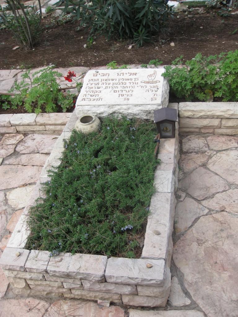 Grave of Eliyahu Hakim, Mount Herzl (Photo credit: CC-BY-SA  Deror Avi via Wikimedia Commons)