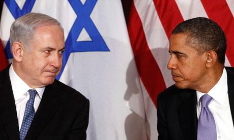photo of Netanyahu and Obama