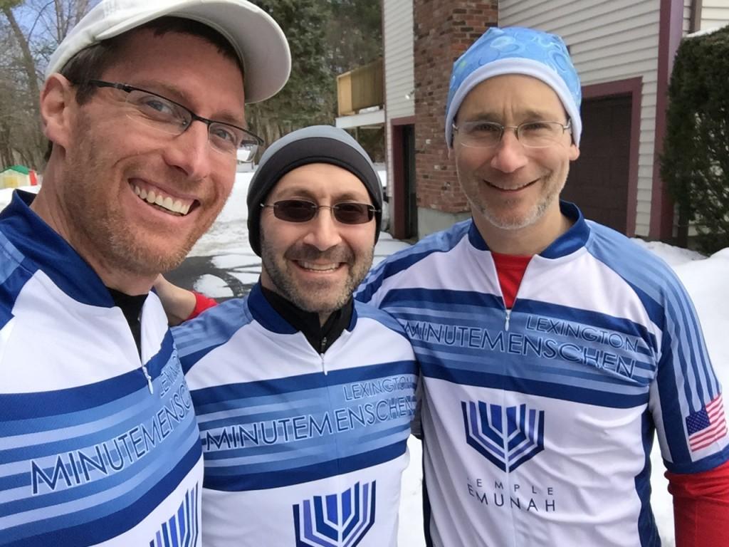 Team Emunah Running Picture 3-16-15 incl. Brian Cutler, Rabbi David Lerner, and David Geller (l-r)