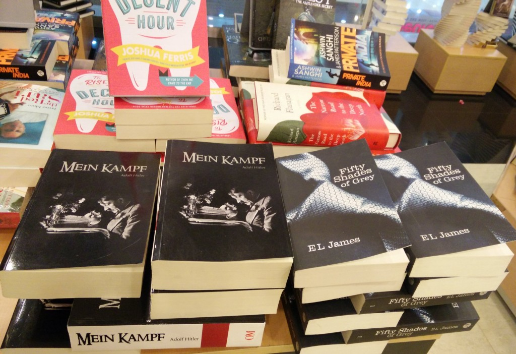 Hitler's Book beside Fifty Shades of Gray