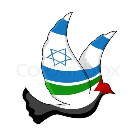Dove of Israeli and Palestinian Peace