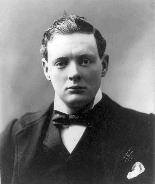 Winston Chruchill, 1900 (Photo credit: Public domain via Wikipedia)